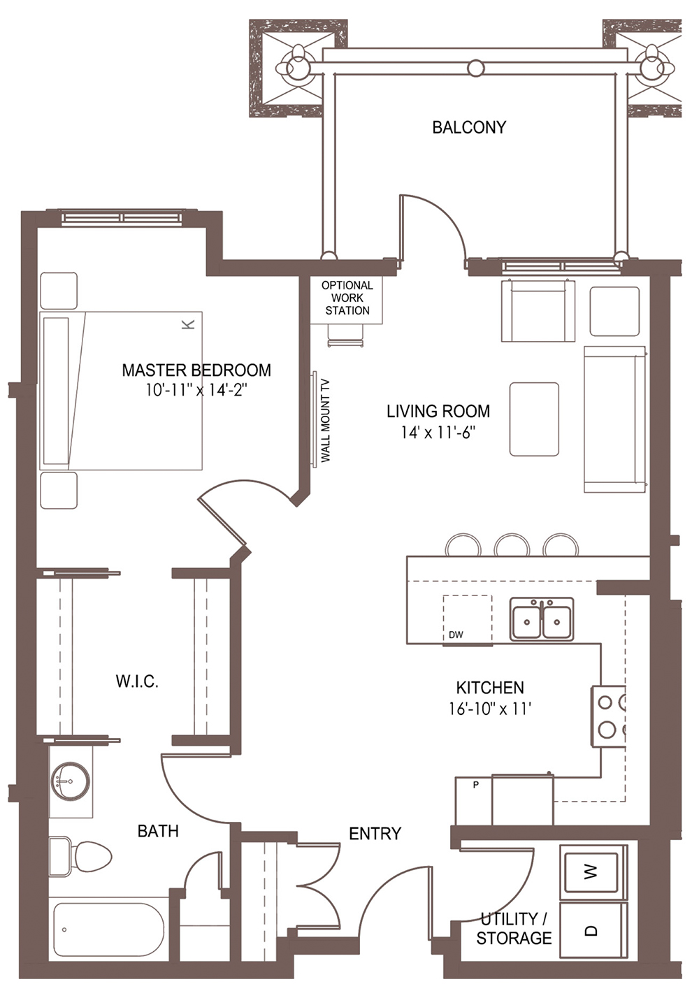 Unit 1104 floor plan