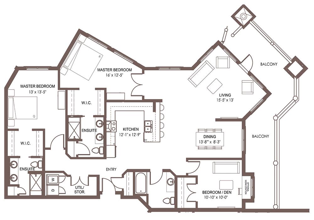 Unit 1108 floor plan