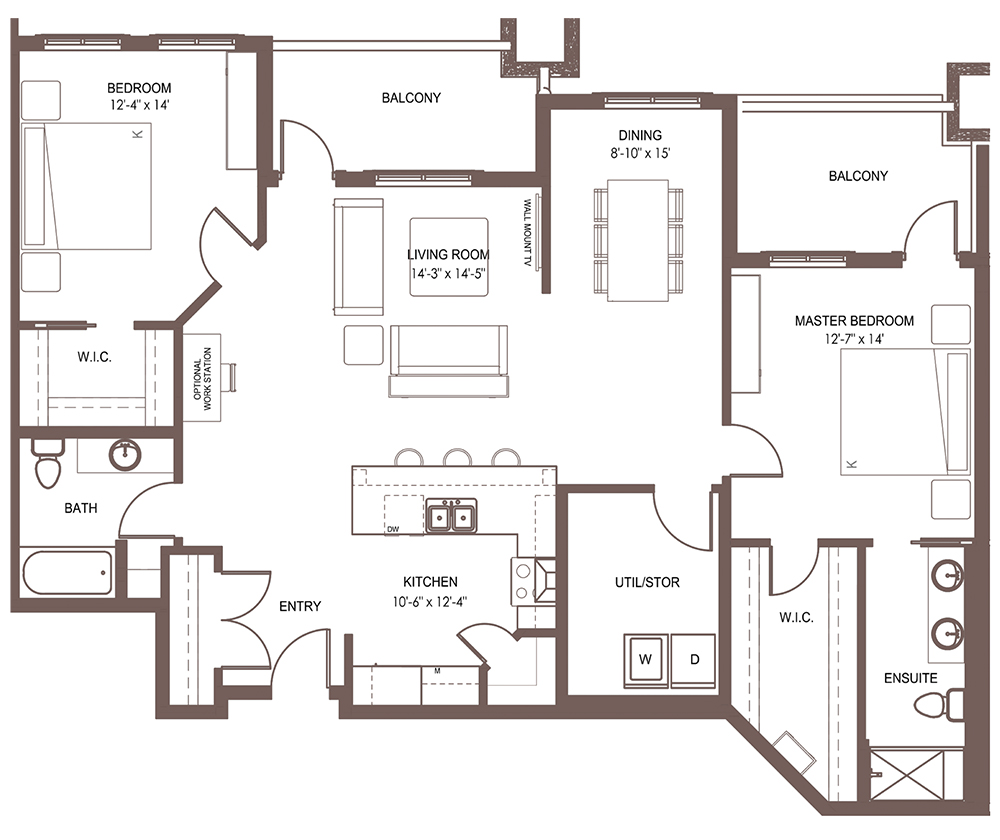 Unit 1303 floor plan