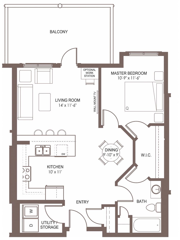 Unit 1231 floor plan