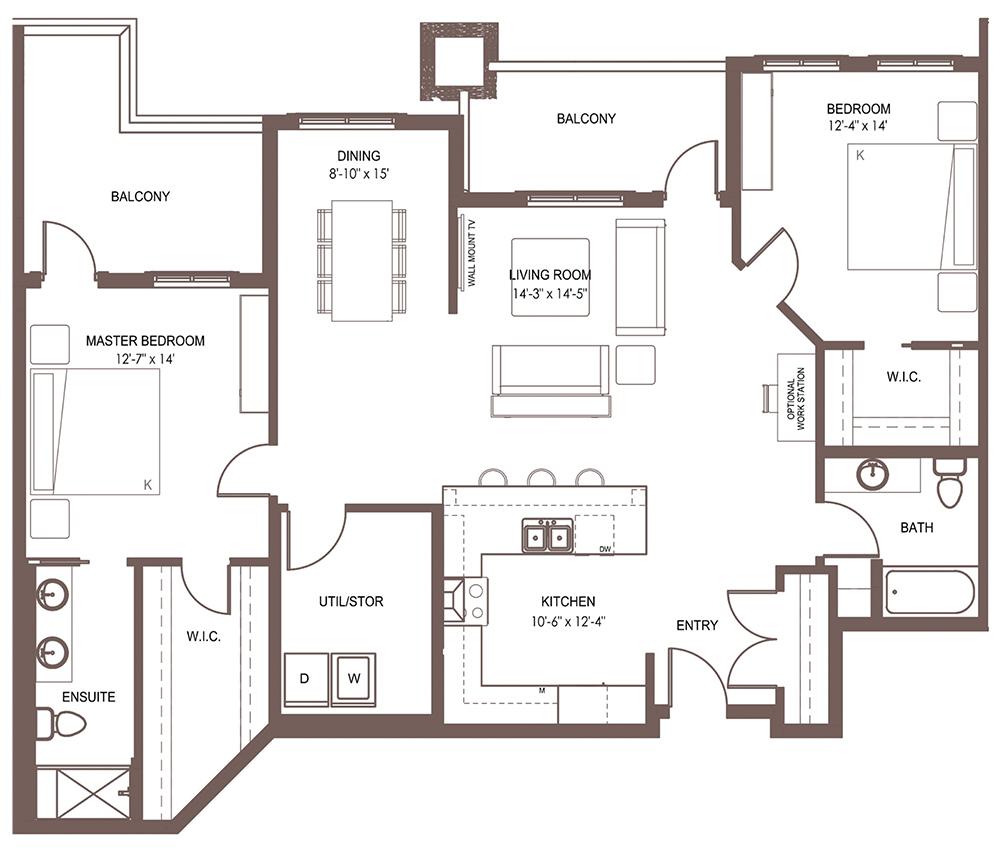 Unit 1303 floor plan