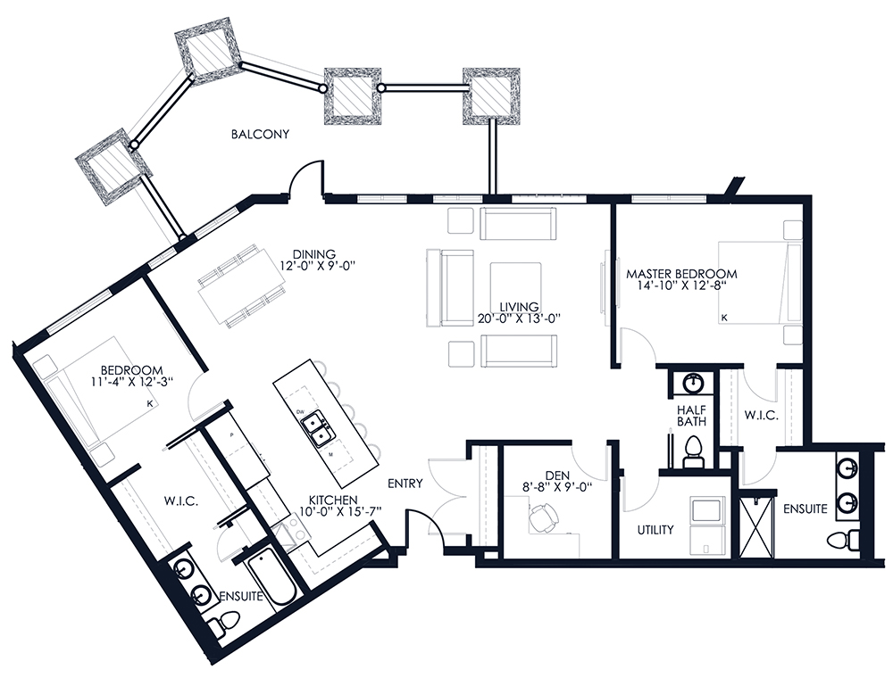 Unit A111 floor plan