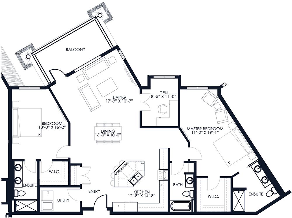 Unit A412 floor plan