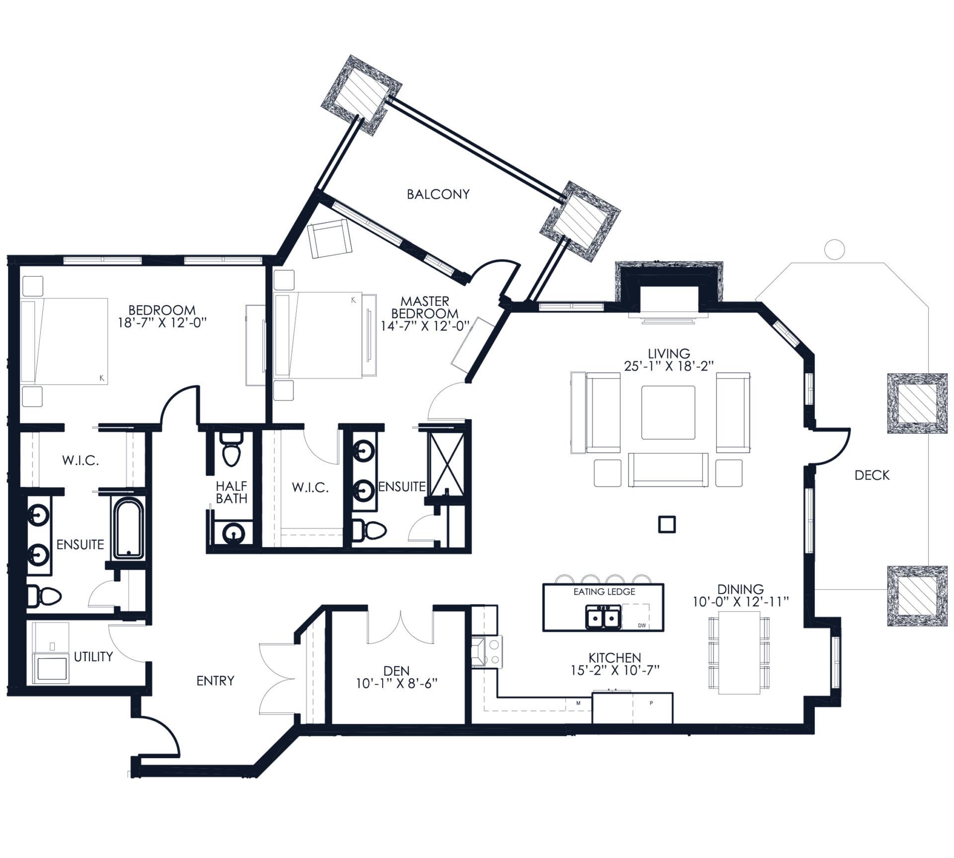 Unit A115 floor plan
